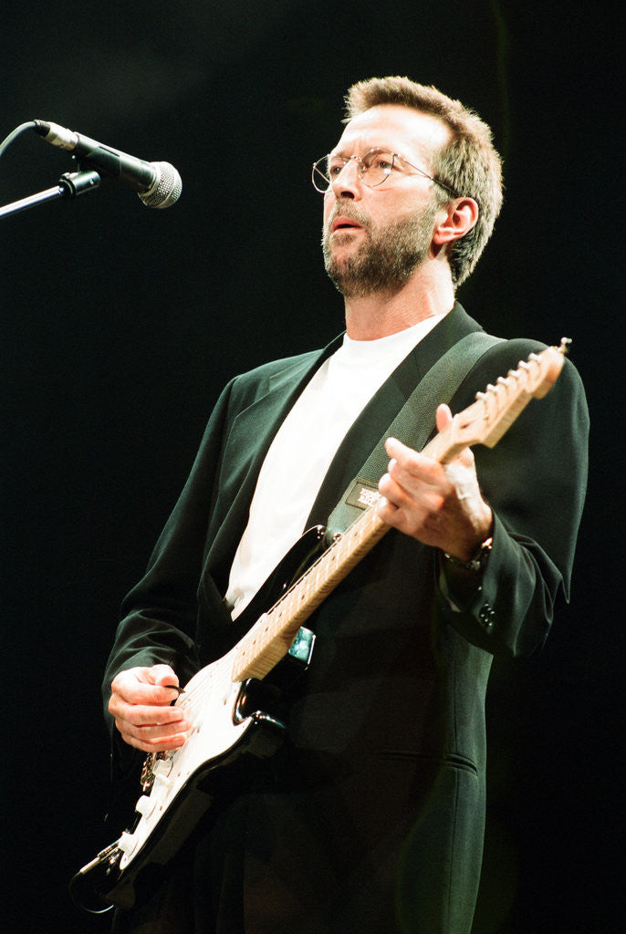 Detail of Eric Clapton 1993 by Jeremy Williams