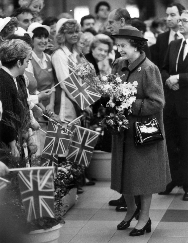Detail of The Queen in Bolton 1988 by Manchester Evening News Archive