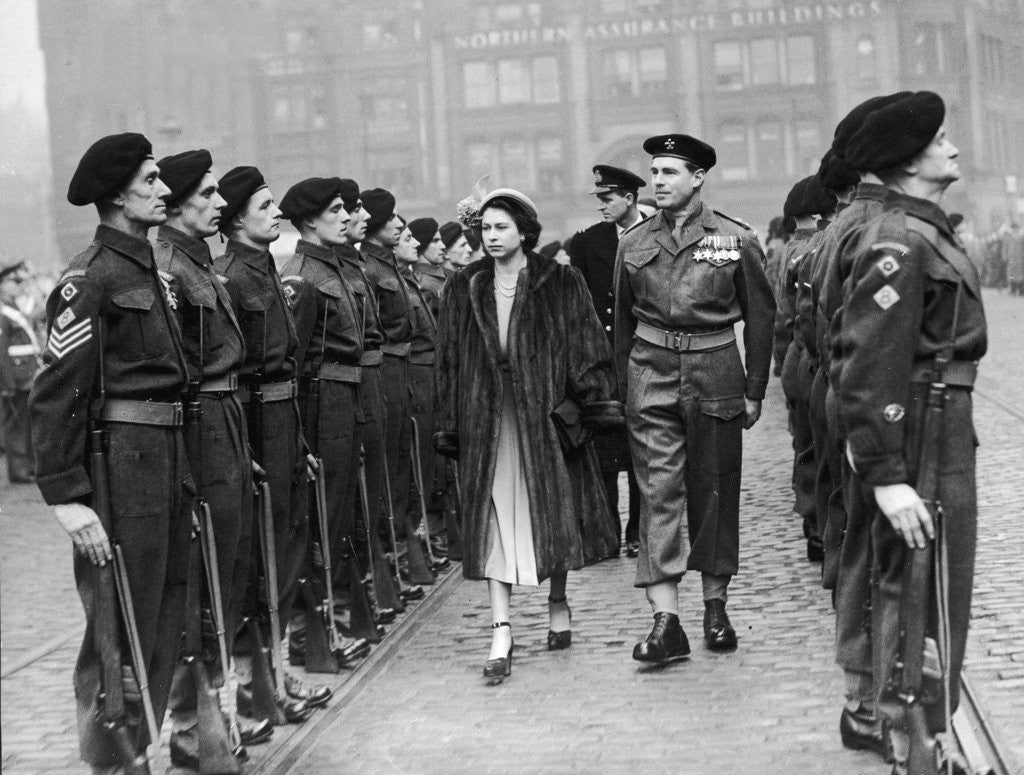 Detail of Inspection of the Guard 1949 by Manchester Evening News Archive