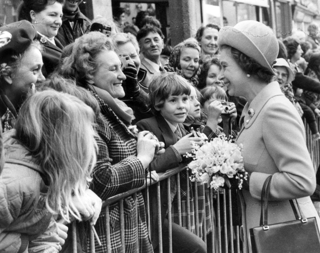 Detail of The Queen in Manchester 1972 by Manchester Evening News Archive