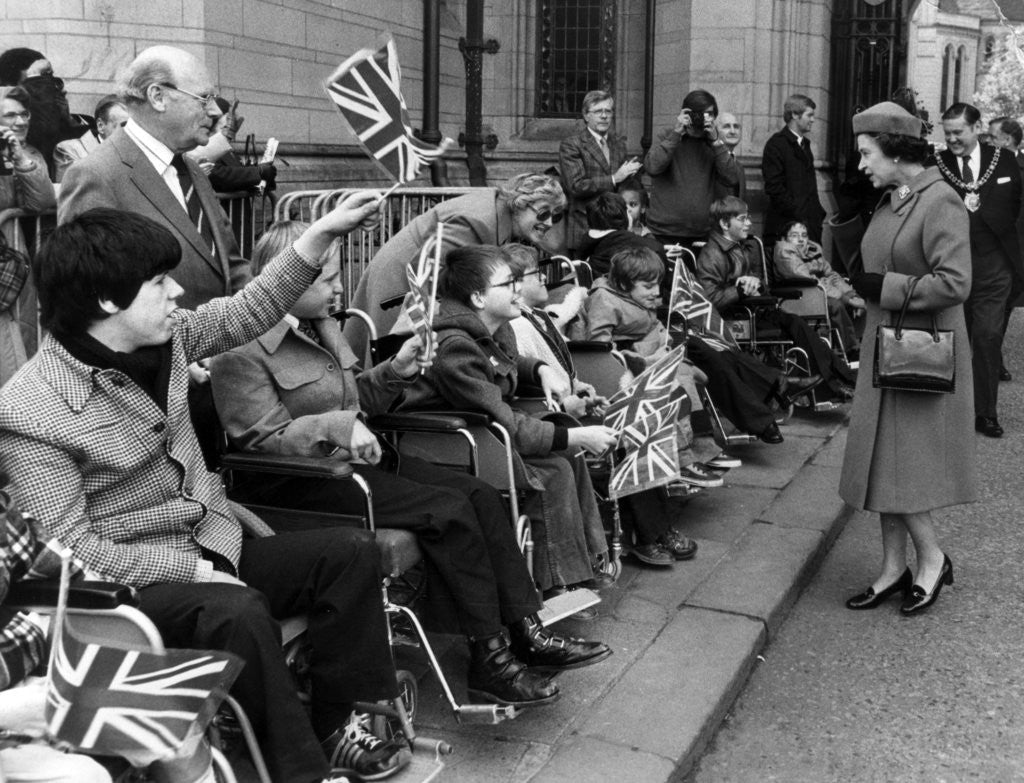 Detail of The Queen in Manchester 1982 by Manchester Evening News Archive