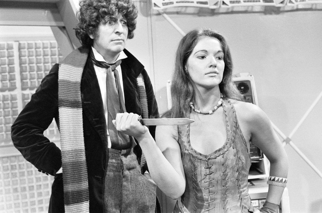 Detail of Doctor Who assistant Louise Jameson by Freddie Reed
