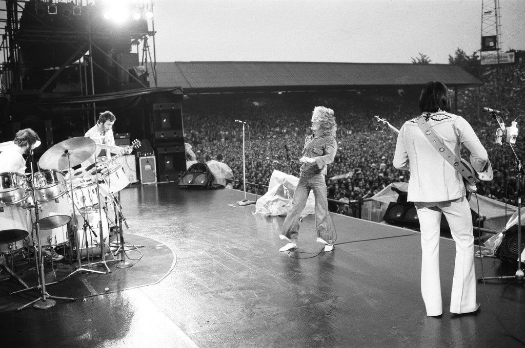 Detail of The Who in concert 1976 by Mike Maloney
