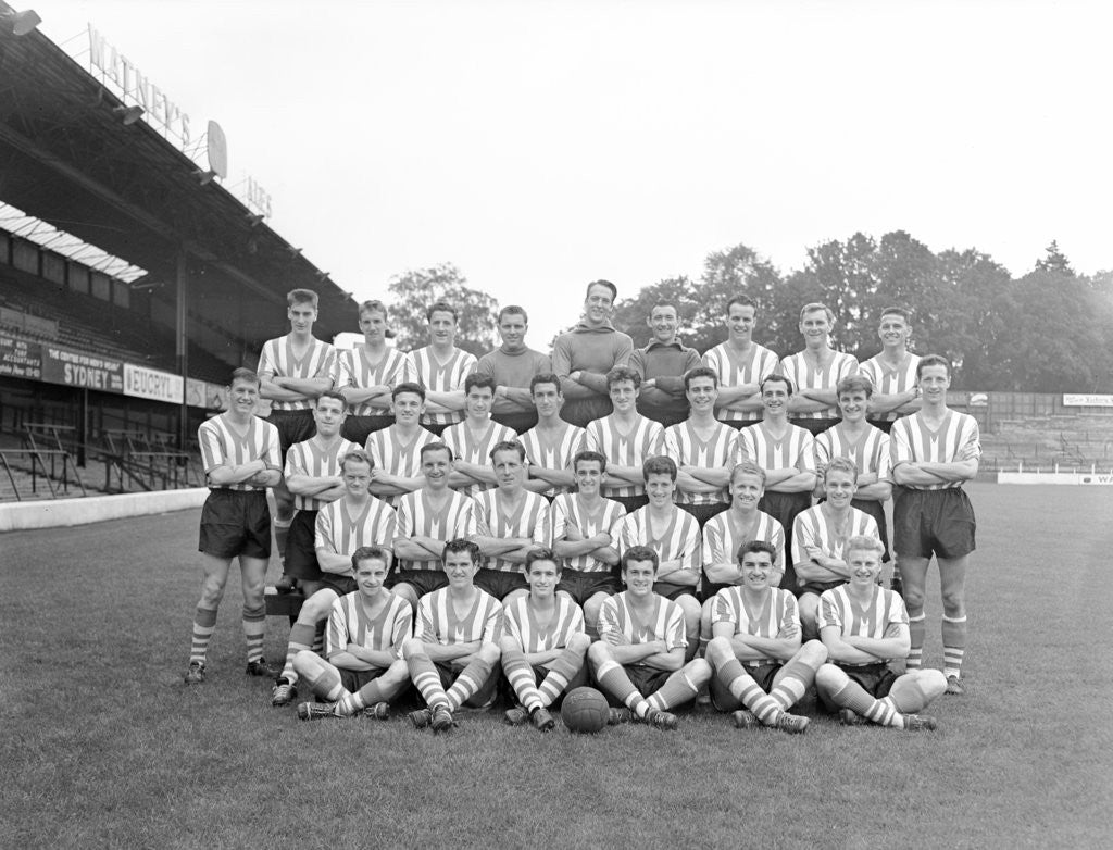 Detail of Southampton FC Football Players, 1958 - 1959 Season by Daily Mirror