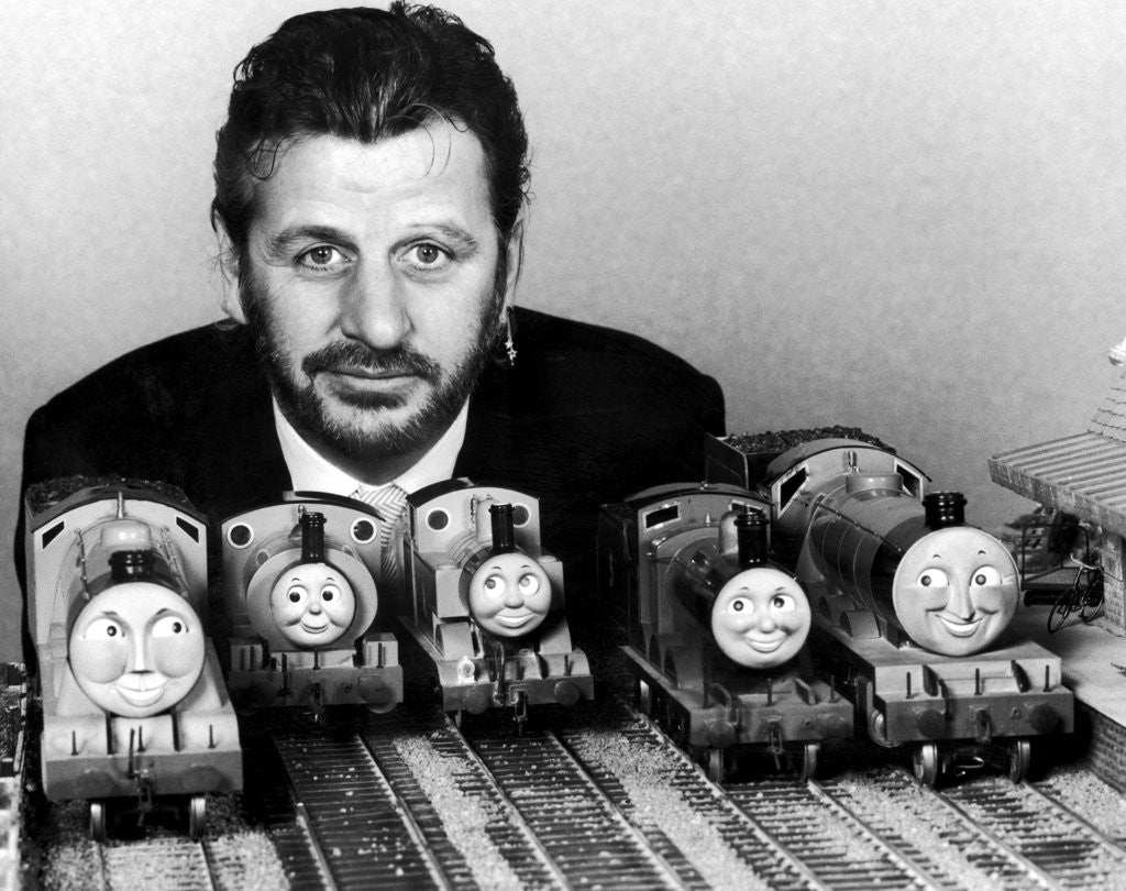 Detail of Thomas the Tank Engine Toys and Ringo Starr by Staff