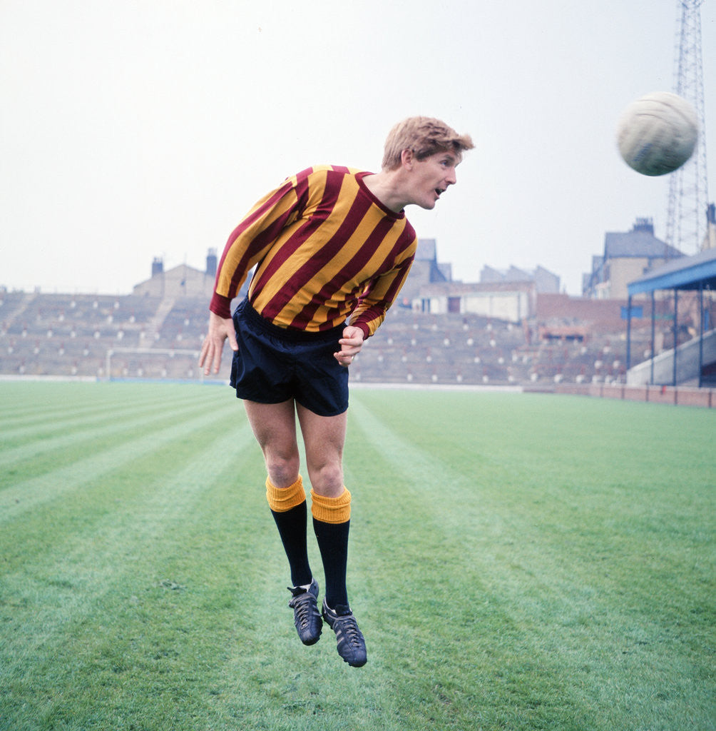 Detail of Bradford City footballer Barry Swallow July 1968. by Staff