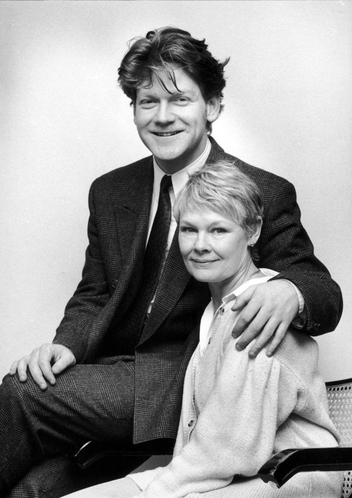 Detail of Dame Judi Dench and Kenneth Branagh at the Birmingham Repertory Theatre. by Randle