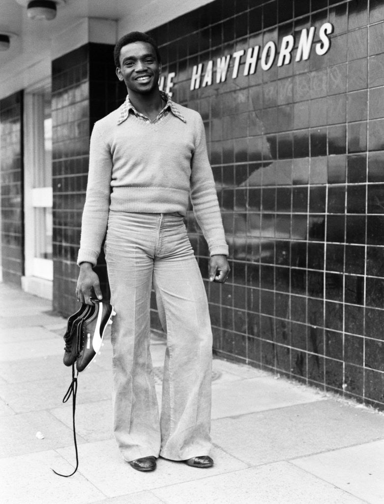 Detail of Laurie Cunningham's first day of tranning at  West Bromwich Albion by Williams