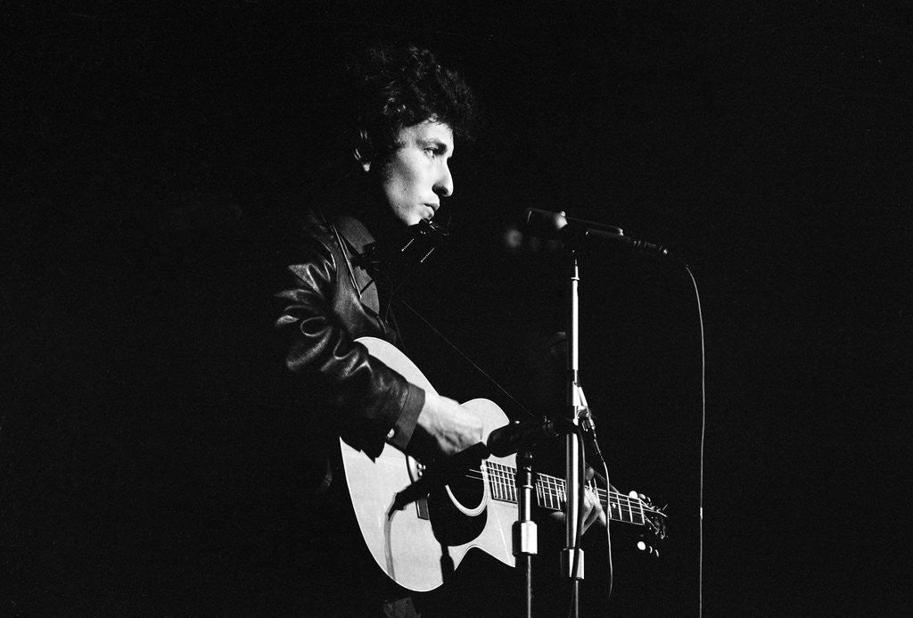 Detail of Bob Dylan concert 1965 by Alisdair MacDonald