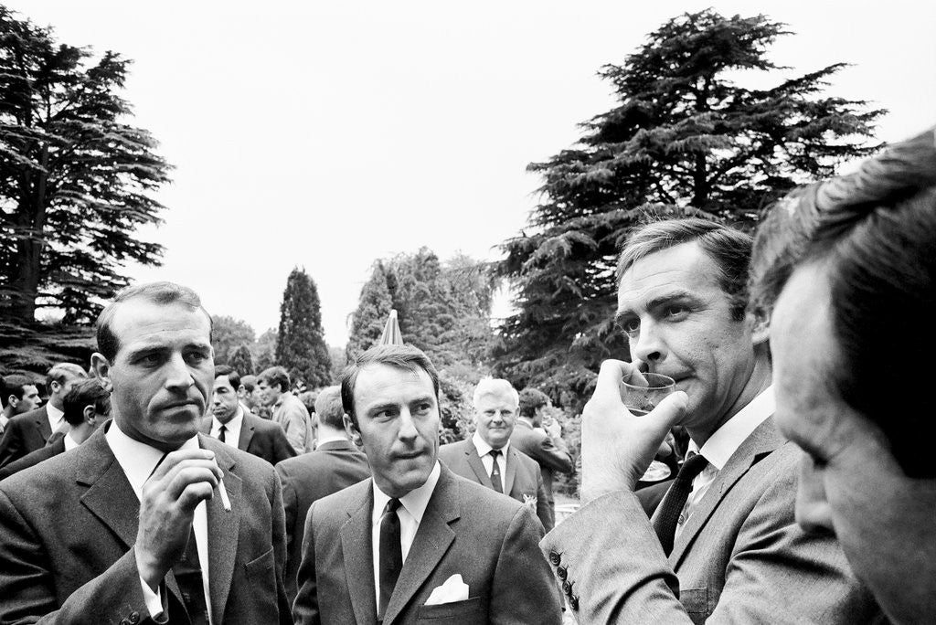 Detail of 1966 England World Cup team visit Pinewood Studios by Staff