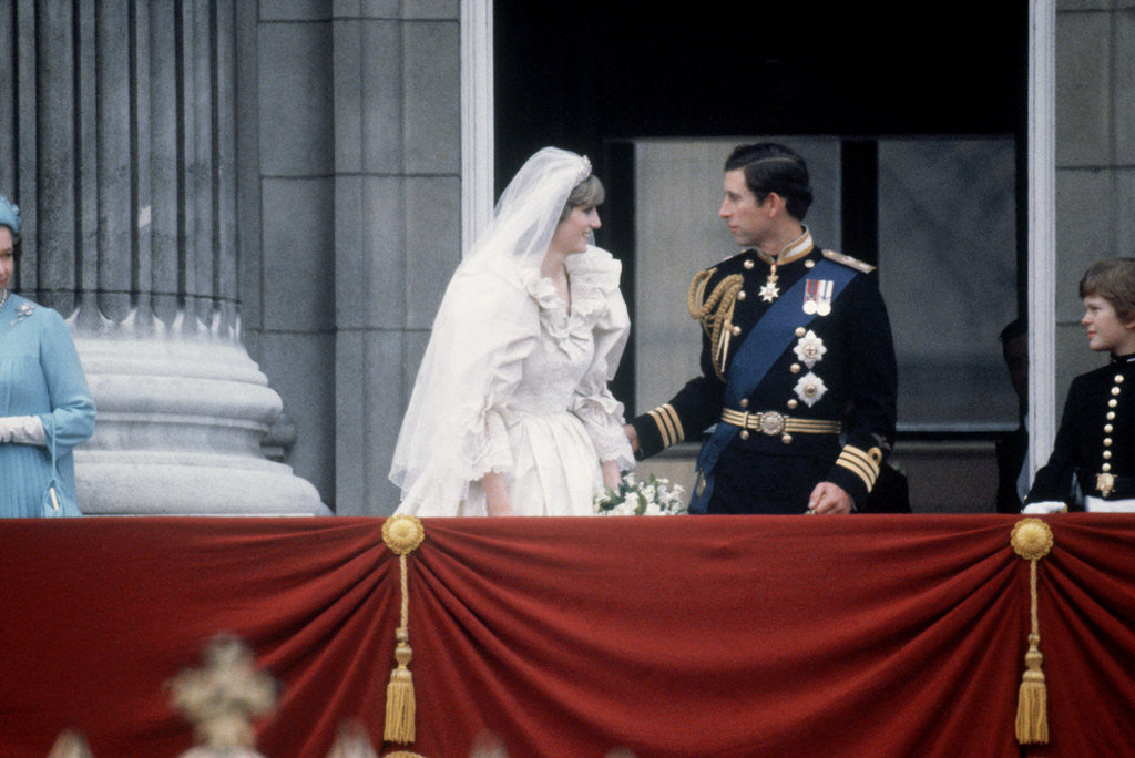 Detail of Princess Diana and Prince Charles on the balcony of Buckingham Palace by MSI