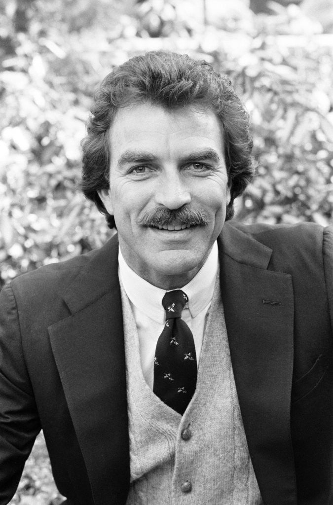 Detail of Tom Selleck by Peter Stone