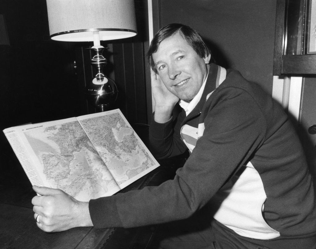 Detail of Aberdeen  manager Alex Ferguson 1982 by Randolph Caughie