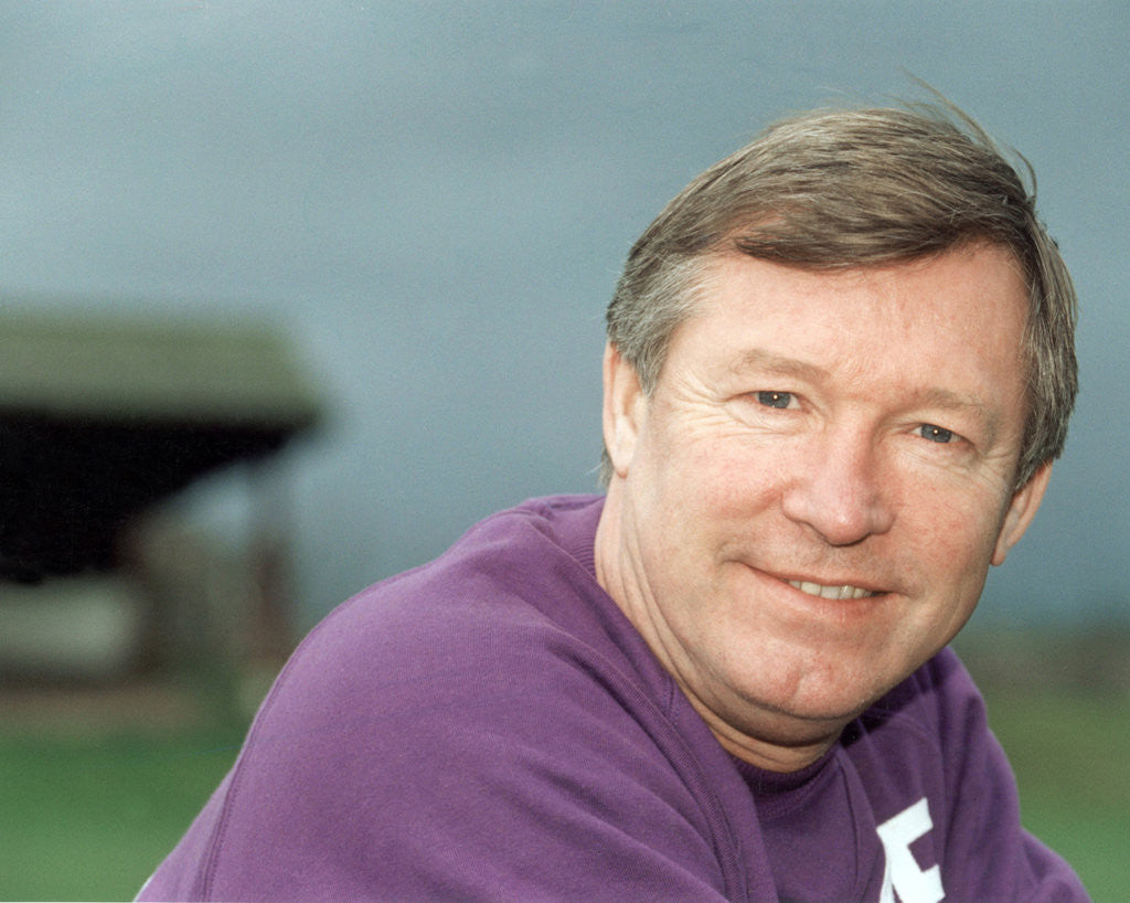 Detail of Manchester United manager Alex Ferguson by Staff