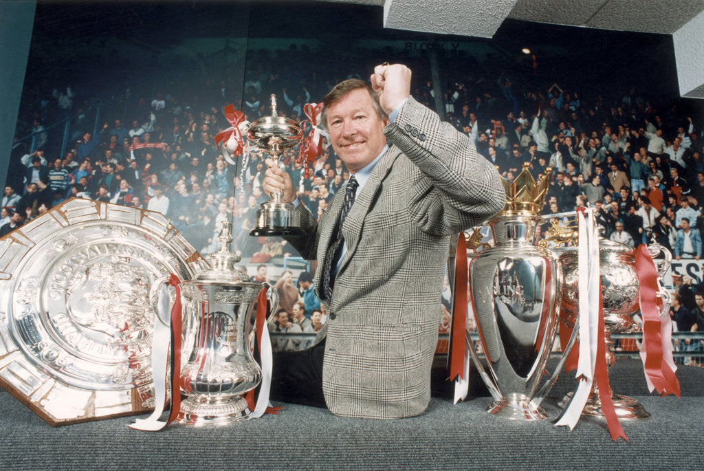 Detail of Manchester United manager Alex Ferguson by Holland