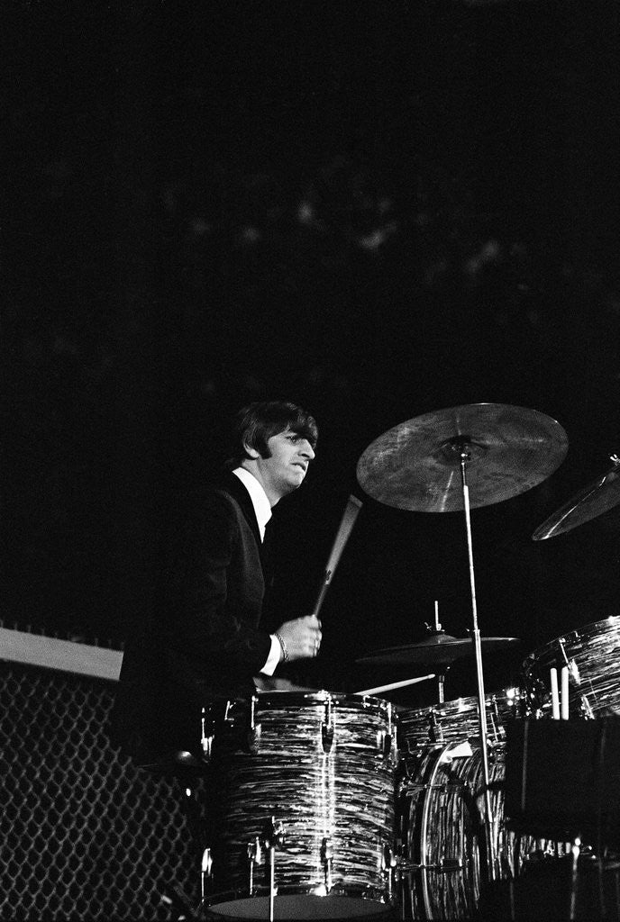 Detail of Beatles performing San Francisco August 1964 by Arthur Sidey