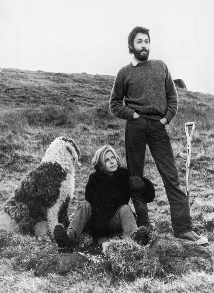 Detail Of Paul And Linda McCartney 1971 By Daily Record