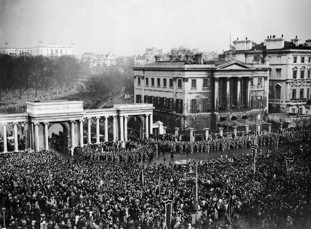Detail of King George V funeral 1936 by Staff
