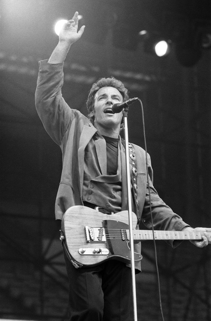 Detail of Bruce Springsteen by Birmingham Post and Mail Archive