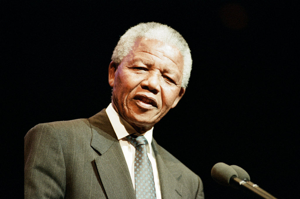 Nelson Mandela in Birmingham, 1993 by Julie Bull