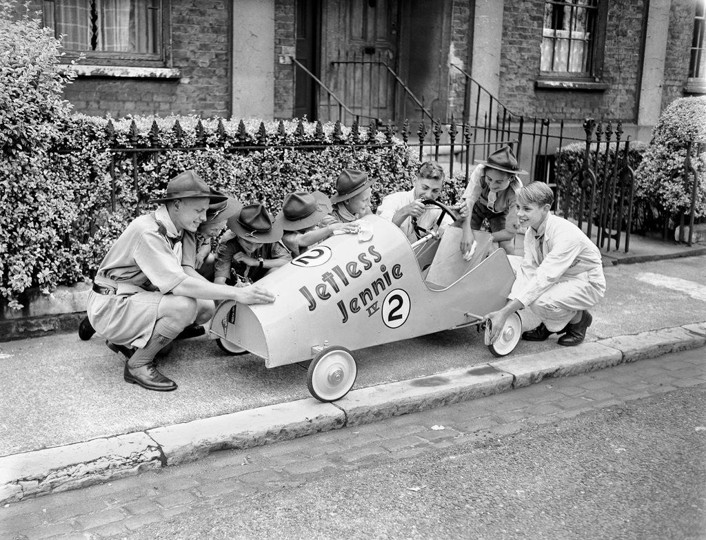 Detail of Soapbox Derby 1954 by Staff