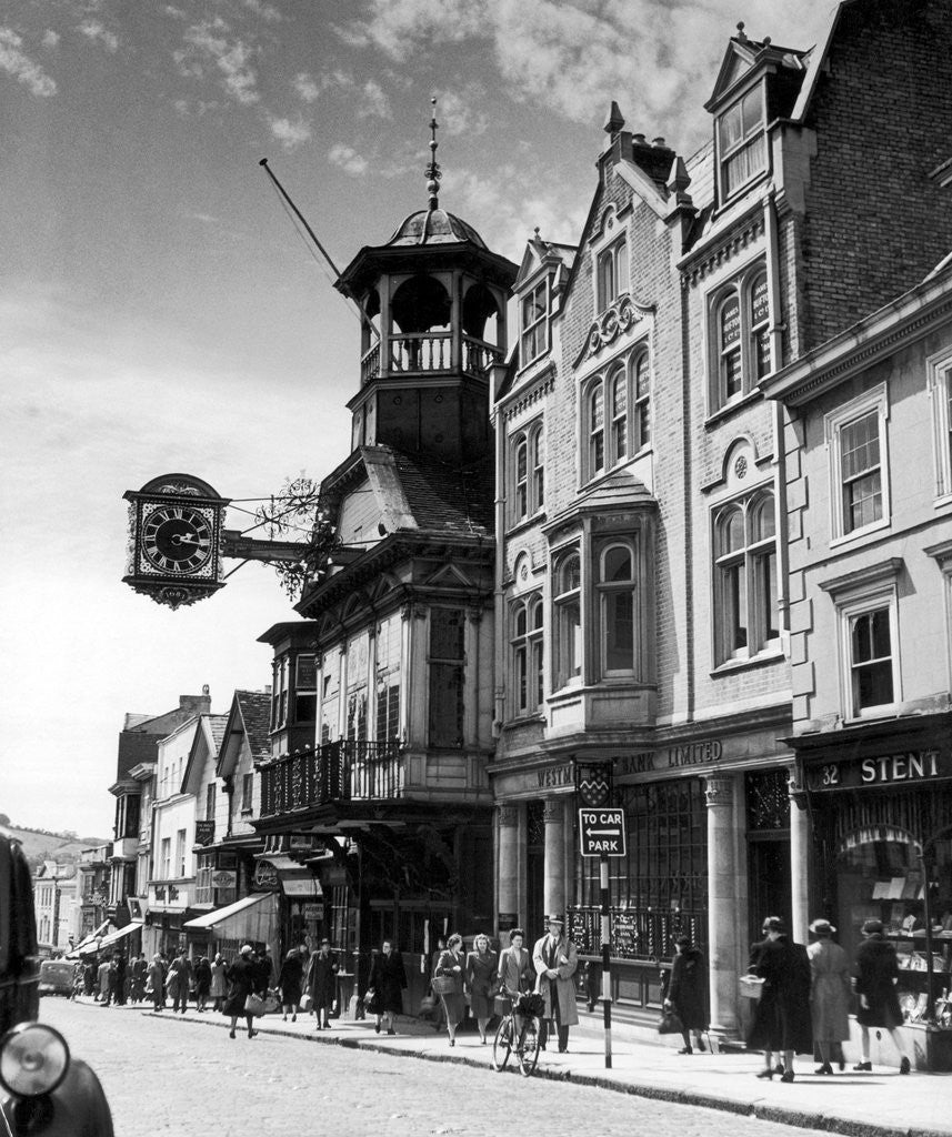 Detail of Guildford High Street, Surrey, circa 1950 by Staff