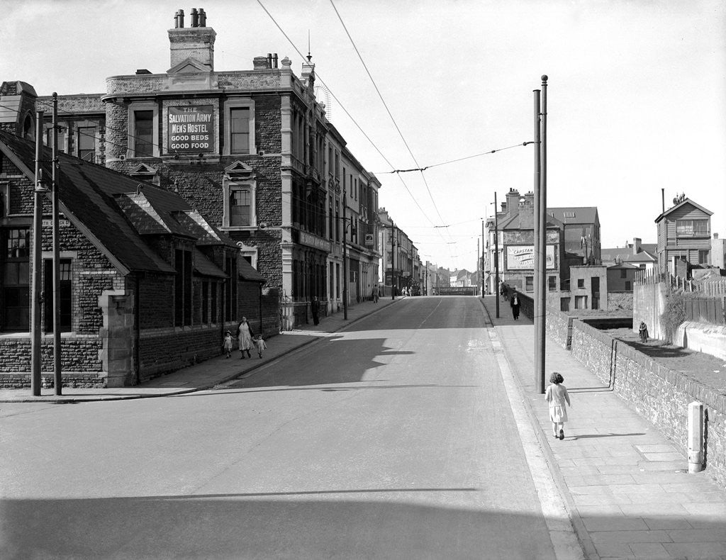 Detail of Bute Street, Cardiff, 13th April 1952 by Stephens