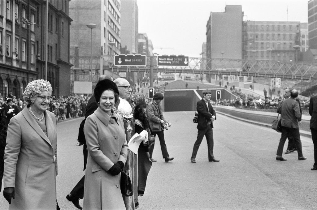 Detail of Queen Elizabeth II Visits Birmingham 1971 by Birmingham Post and Mail Archive