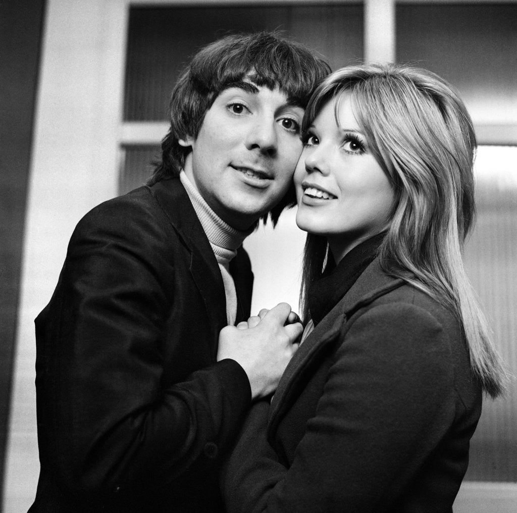 Detail of Keith Moon and wife Kim by Charlie Ley
