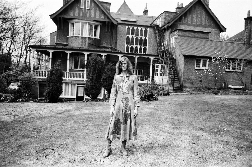 Detail of David Bowie, Haddon Hall, 1971 by Peter Stone