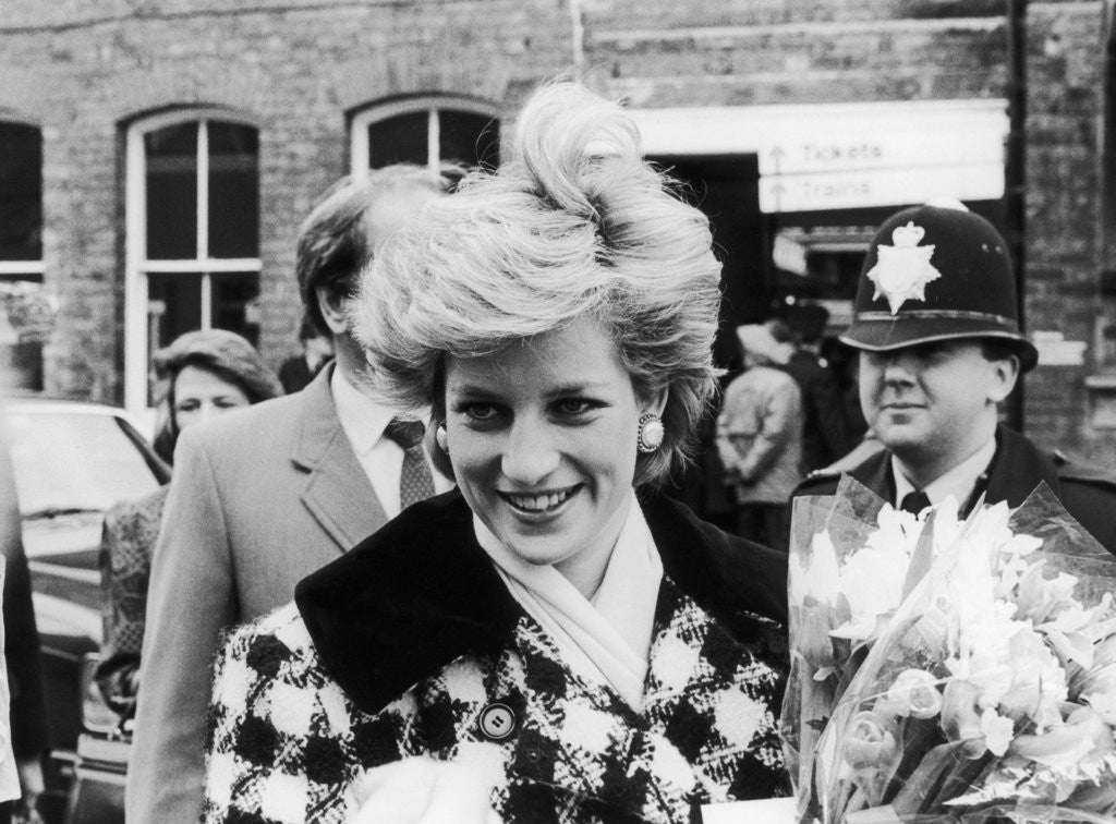 Detail of Princess Diana at Middlesbrough Station 1987 by Staff