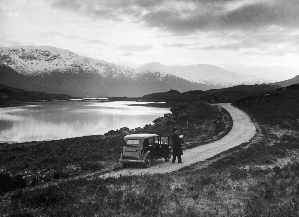 Detail of Loch Cluanie 1936 by Staff