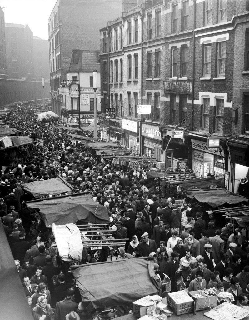 Detail of Petticoat Lane 1960 by George Greenwell