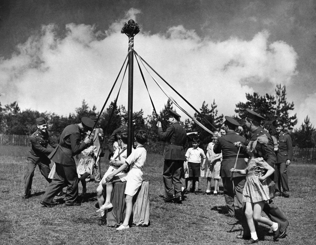 Detail of Maypole 1942 by Staff
