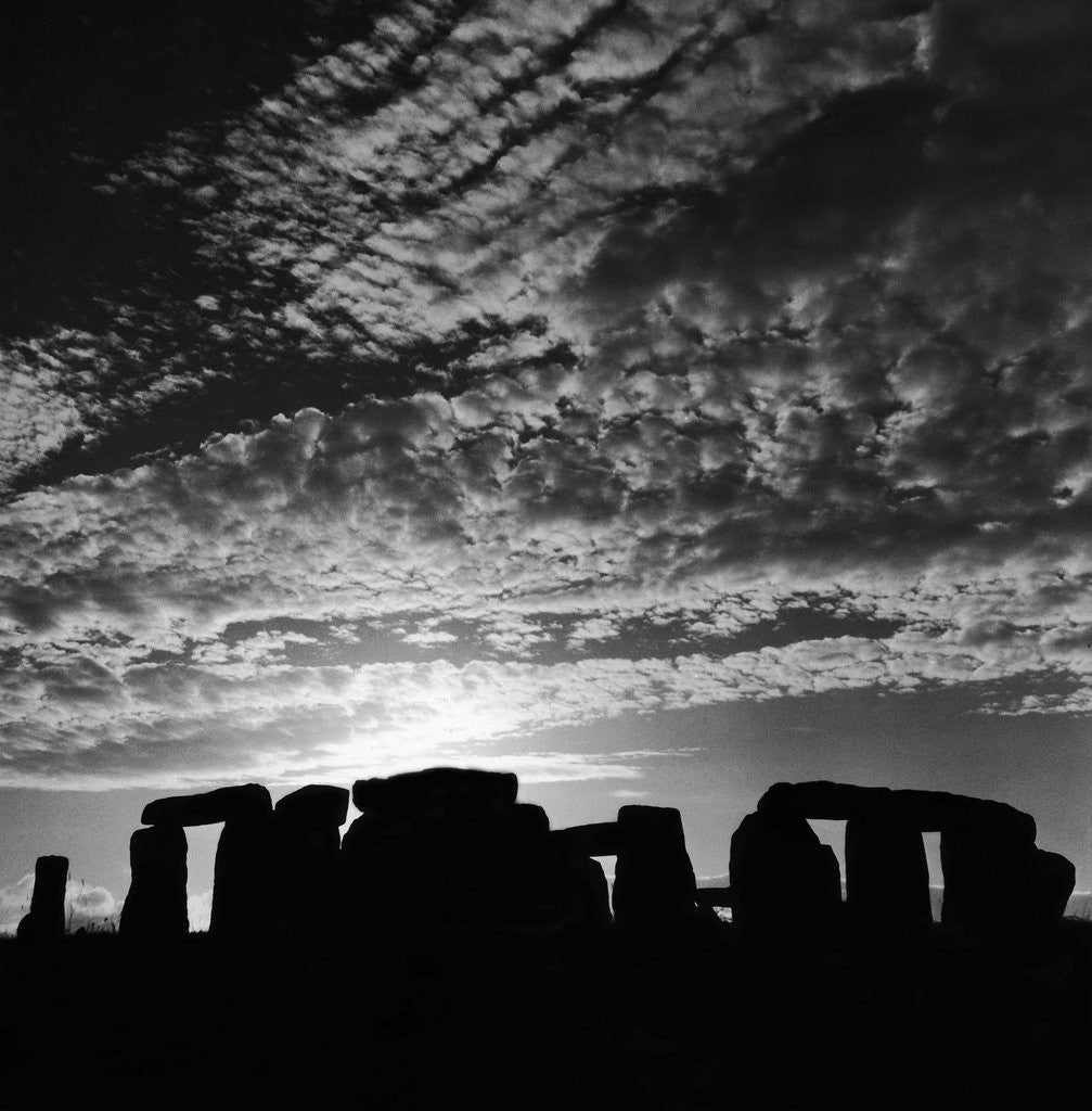 Detail of Sunset over Stonehenge by Staff