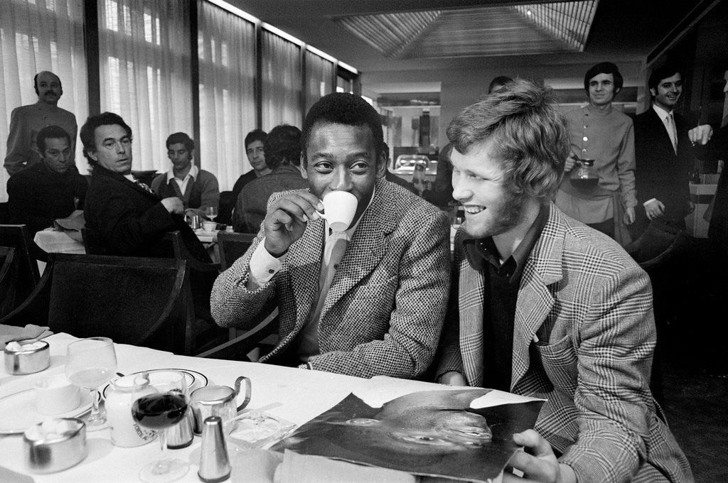 Detail of Pele in Birmingham 1972 by Birmingham Post and Mail Archive