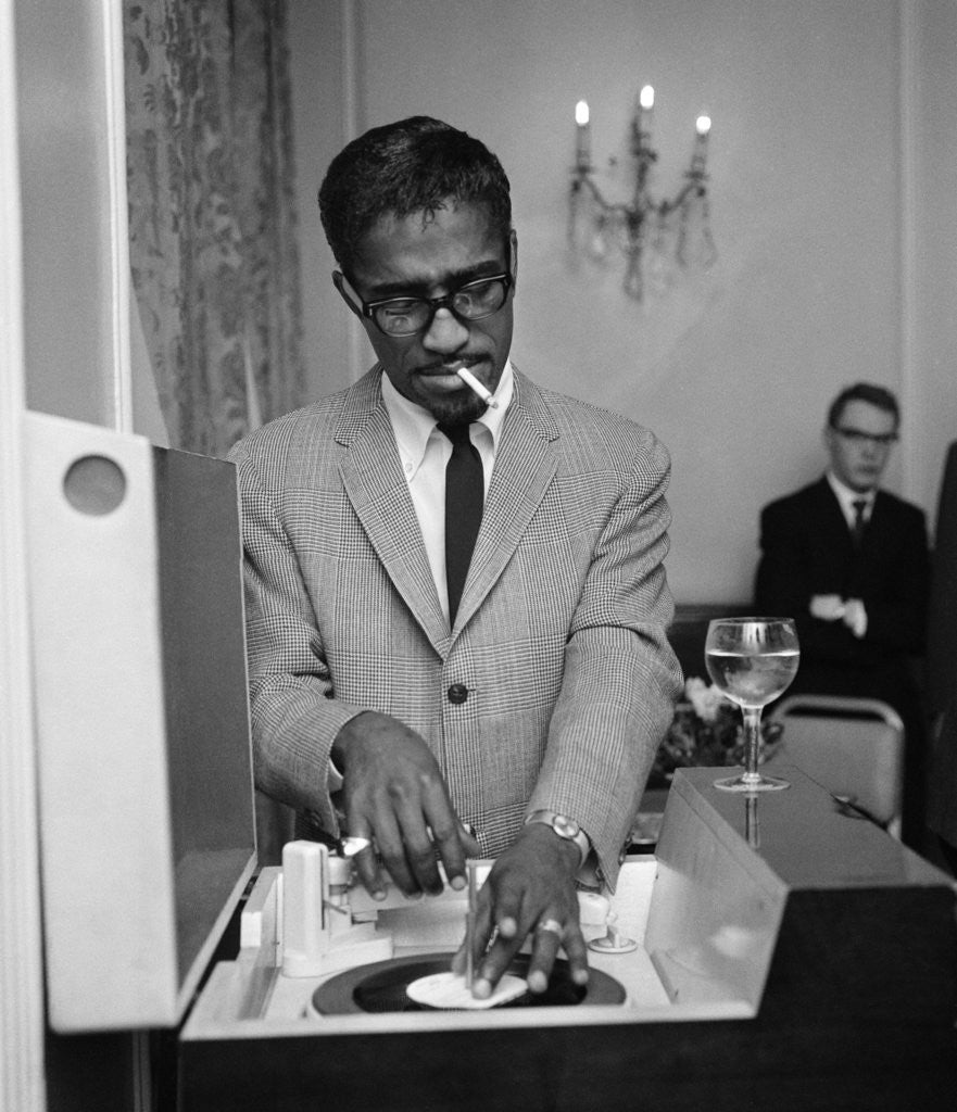 Detail of Sammy Davis Jr 1962 by Blandford
