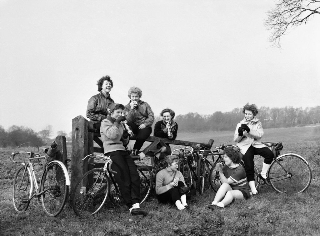 Detail of Cycling Girls 1951 by Daily Mirror
