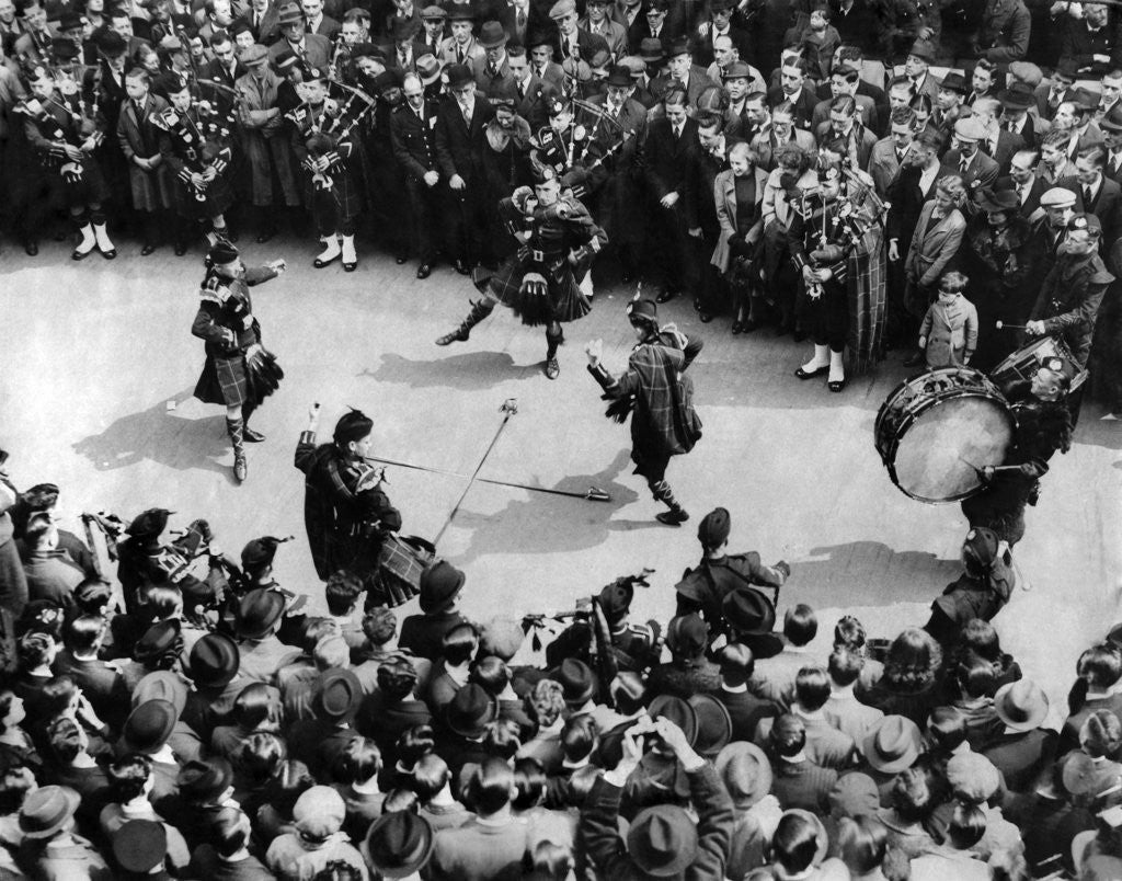 Detail of Highland dances in the city 1939 by Staff