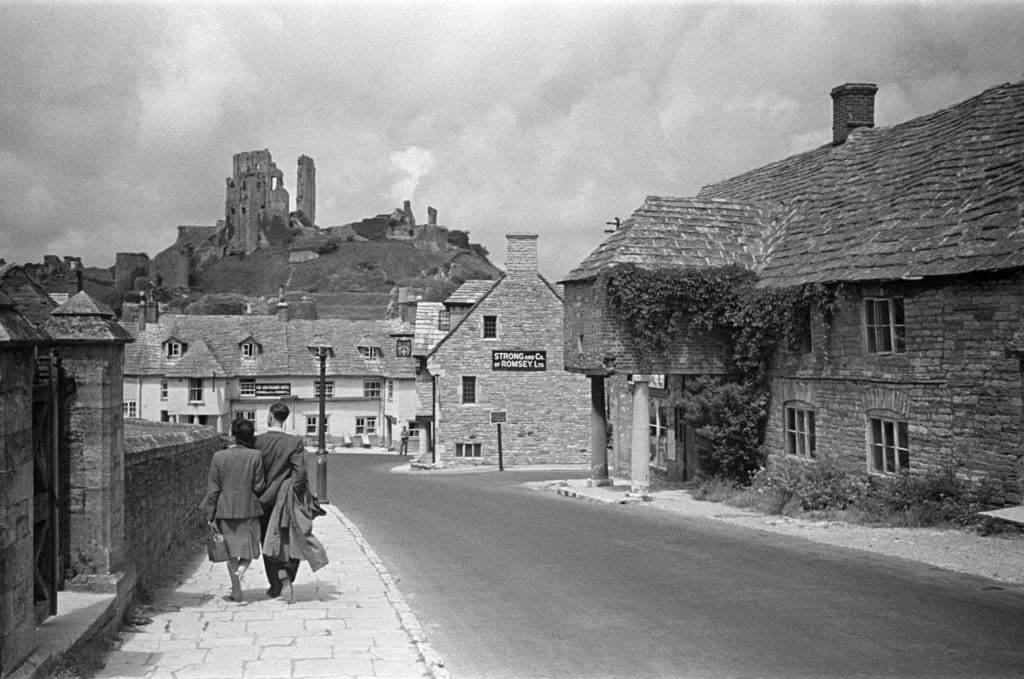Detail of Corfe Castle by Staff