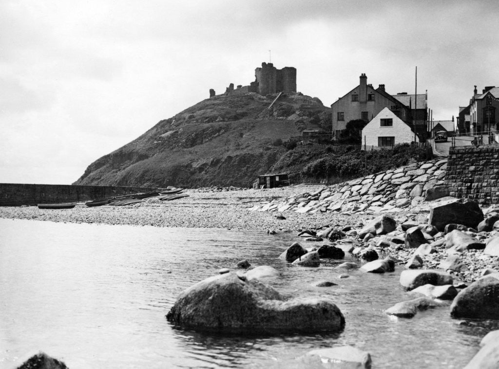 Detail of Criccieth Castle 1950 by Mail Archive