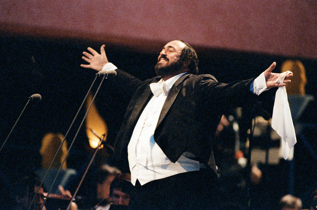 Detail of Luciano Pavarotti's free concert, Hyde Park, 1991 by Ken Lennox