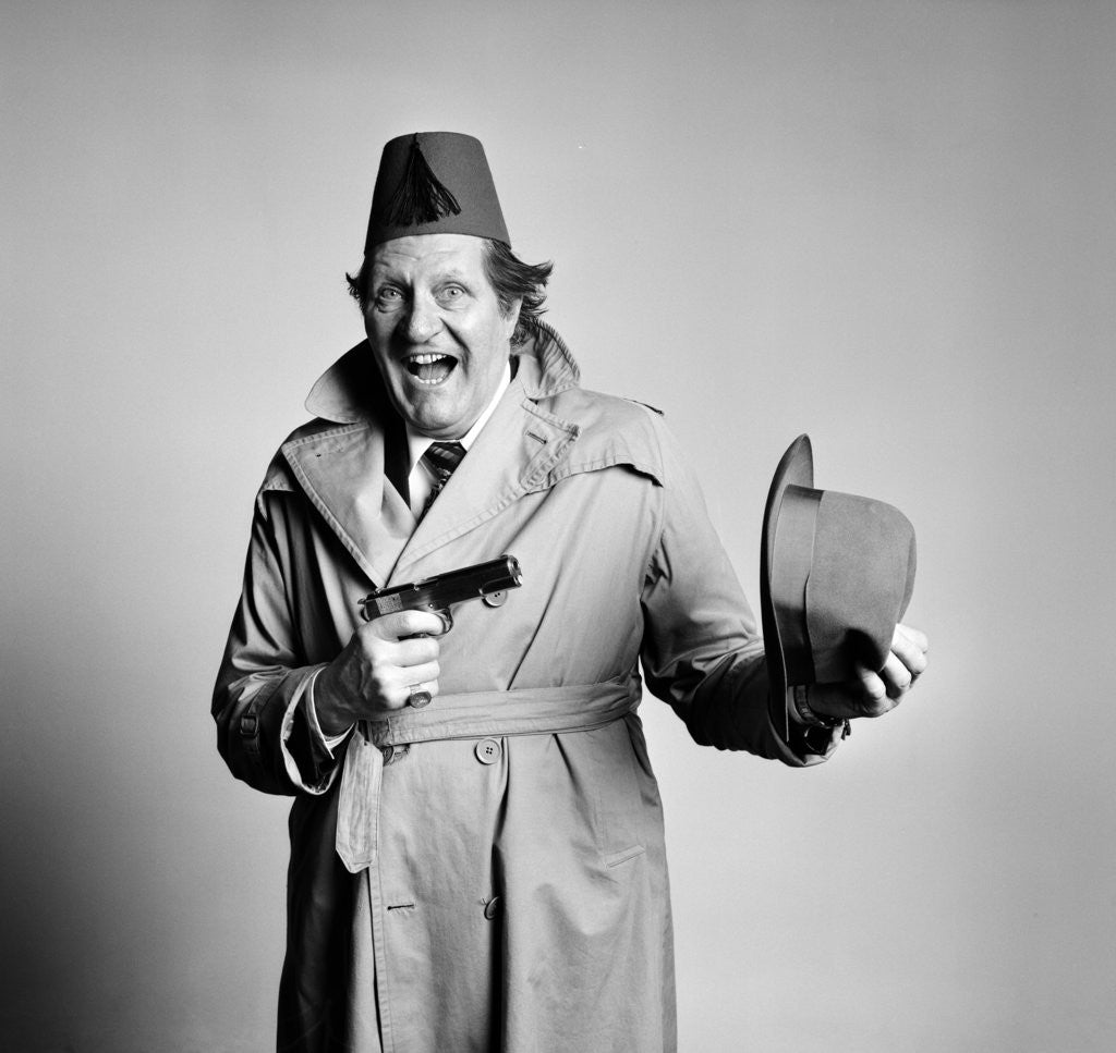 Detail of Tommy Cooper 1978 by Carl Bruin