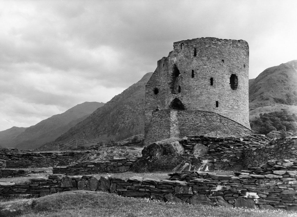 Detail of Dolbadarn Castle 1959 by Western Mail Archive