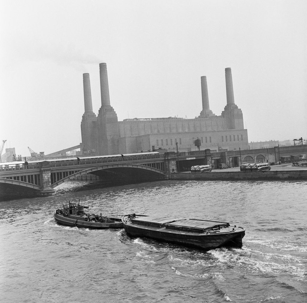 Detail of Battersea Power Station, 1954. by Bela Zola