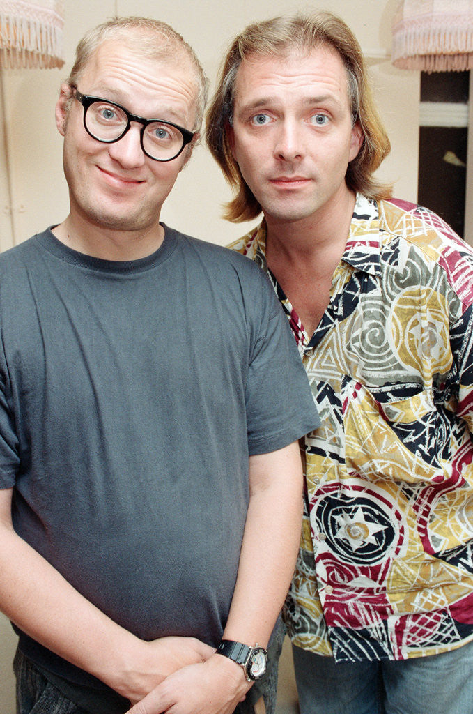 Detail of Rik Mayall and Ade Edmondson, 1991 by Wright