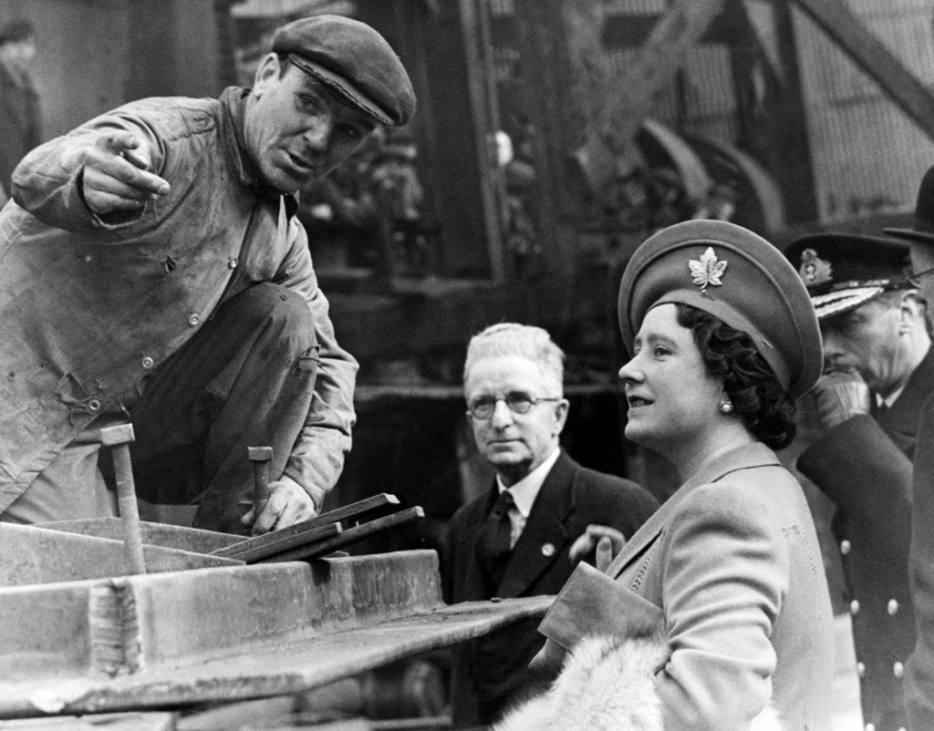 Detail of Queen Elizabeth The Queen Mother, 1943 by Staff