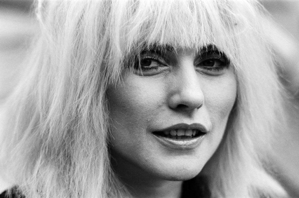 Detail of Debbie Harry, 1983 by Mike Maloney