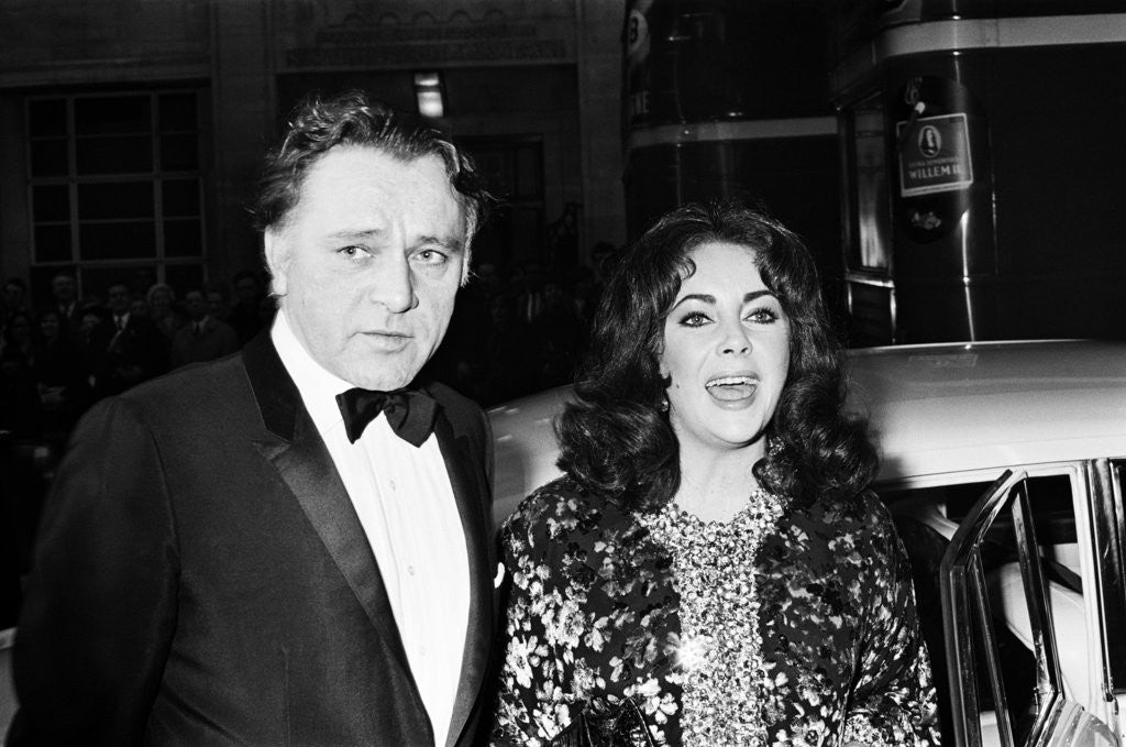 Detail of Elizabeth Taylor and Richard Burton by Weller