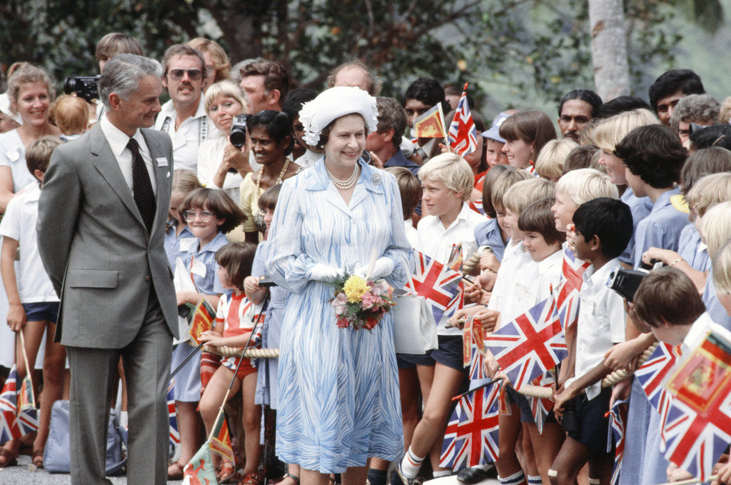 Detail of Queen visit to Sri Lanka 1981 by Mike Maloney